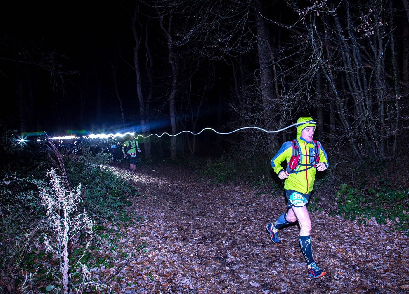 Trail de l'Origole by night