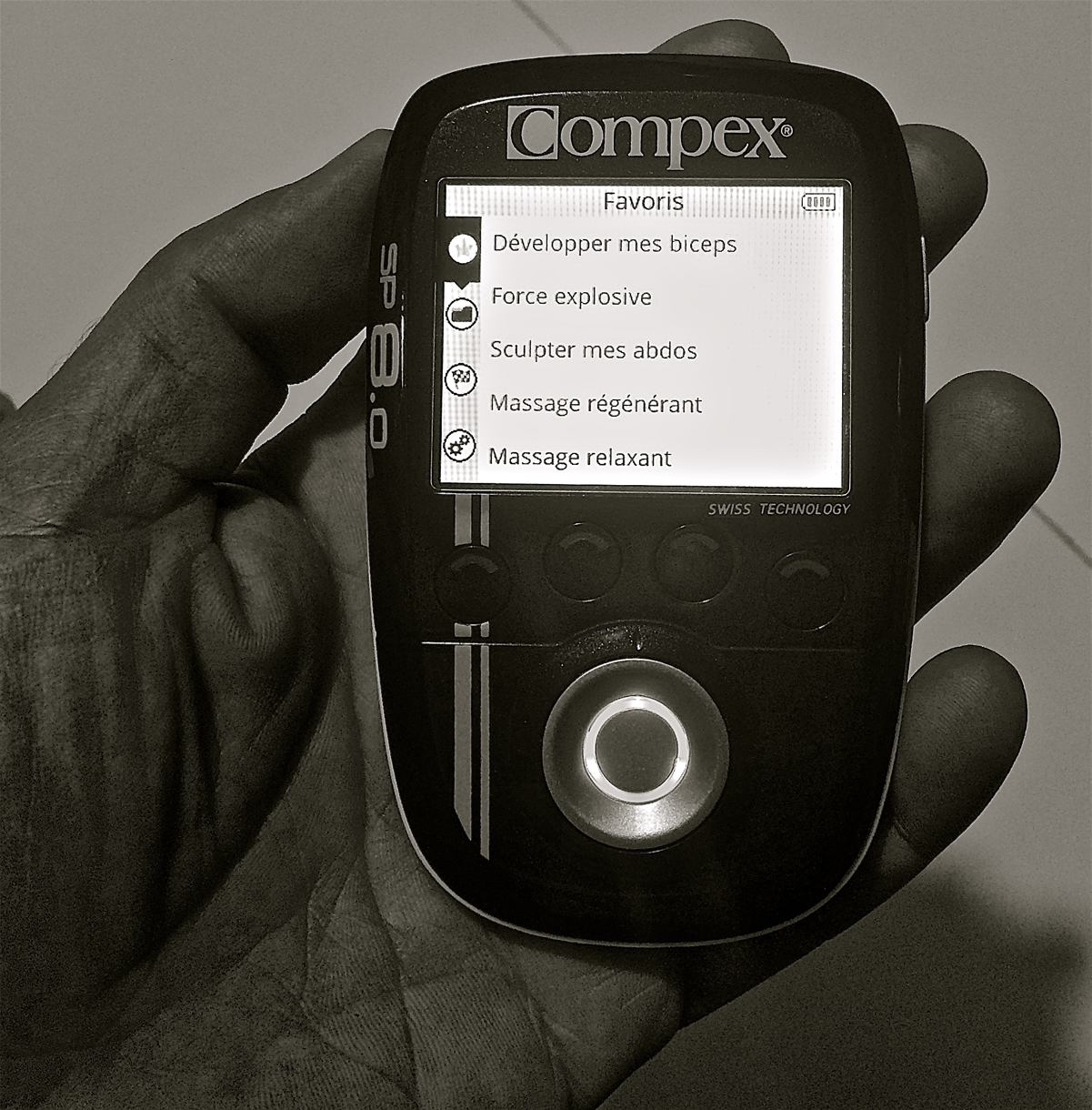 Compex SP8.0 : prise en main