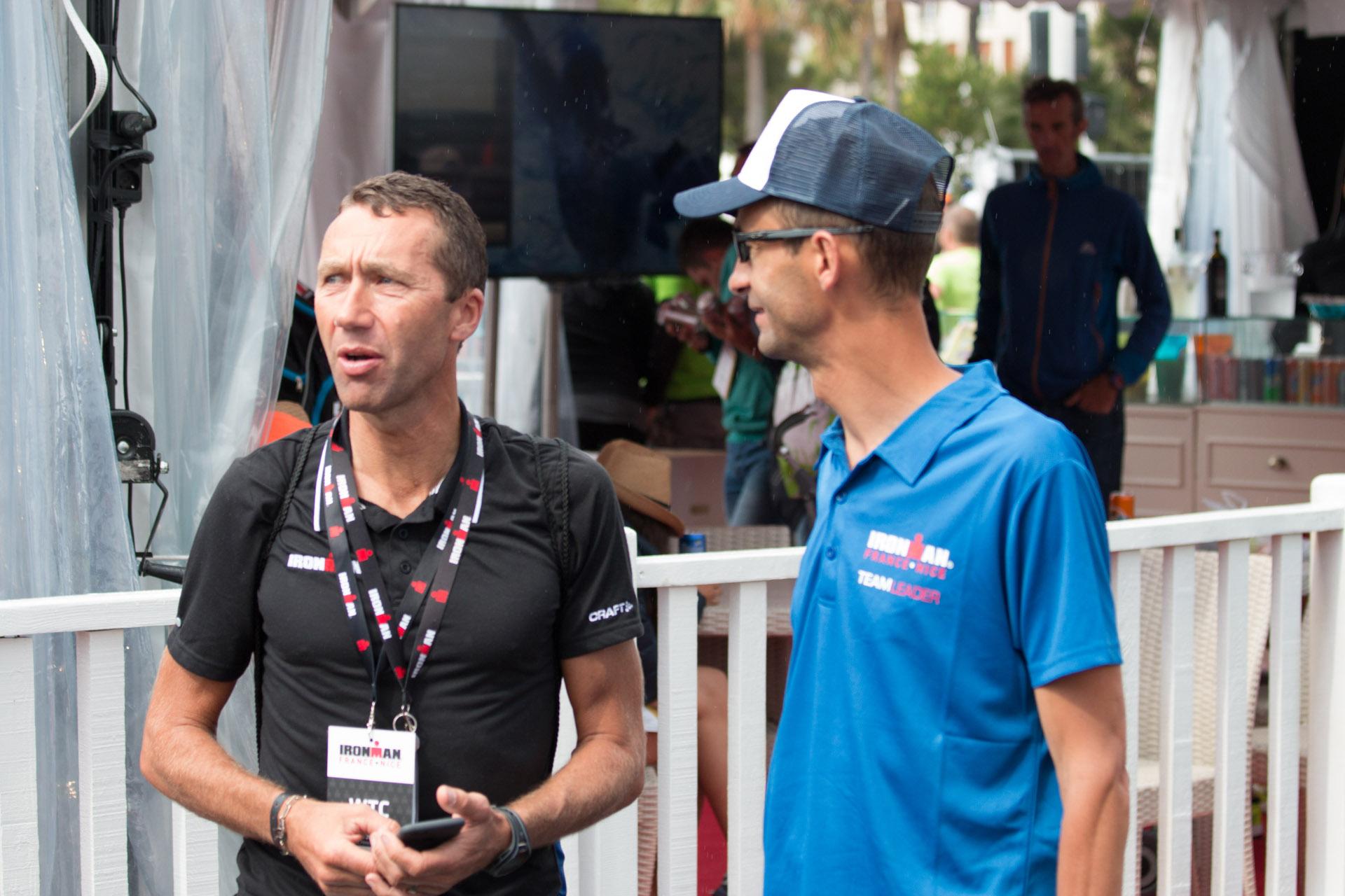 Yves Cordier pendant l'Ironman de Nice