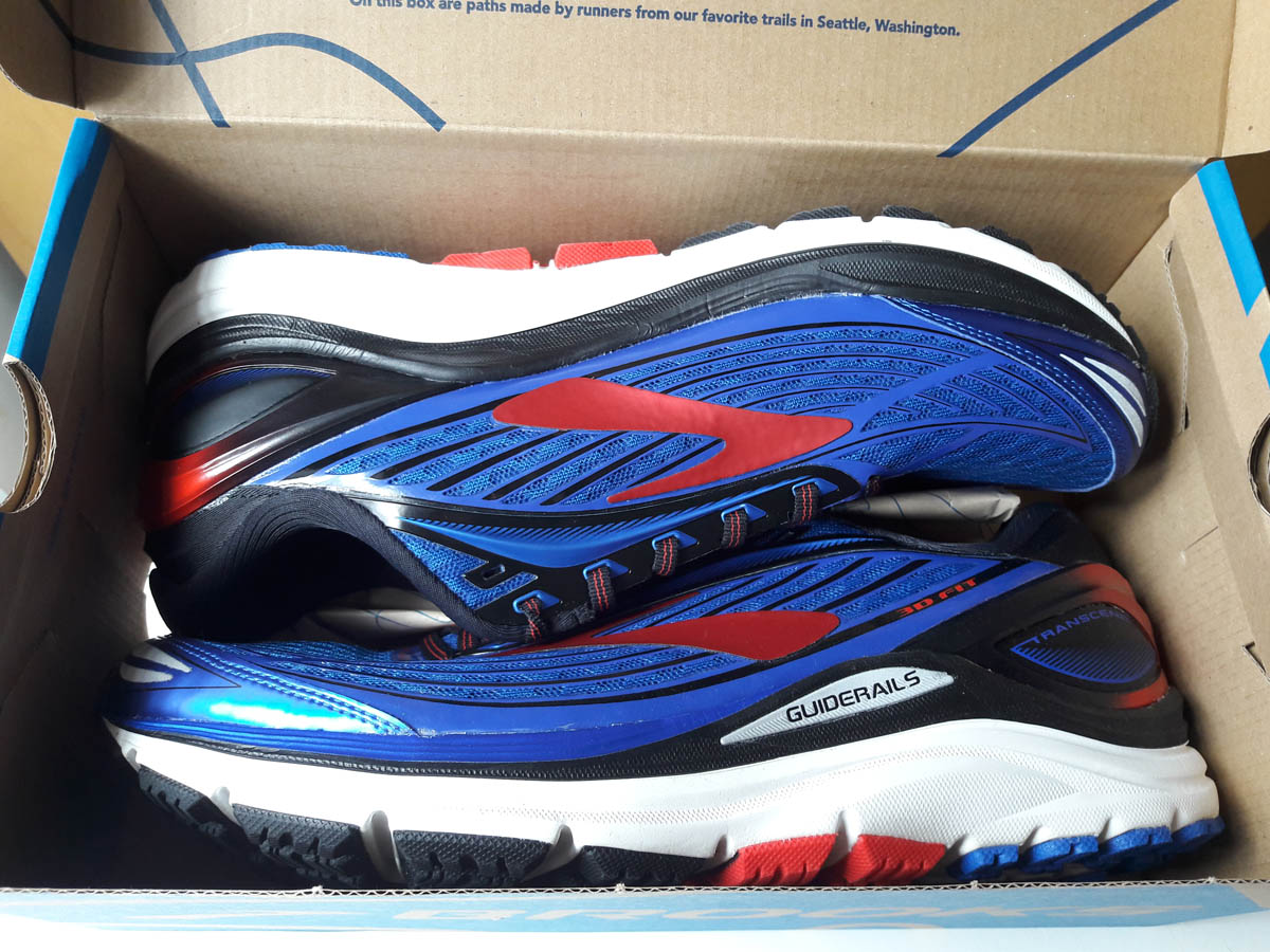 Brooks Transcend 4 : unboxing