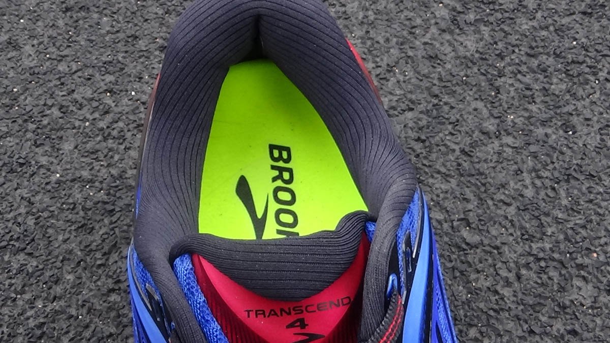 Brooks Transcend 4 : la tige