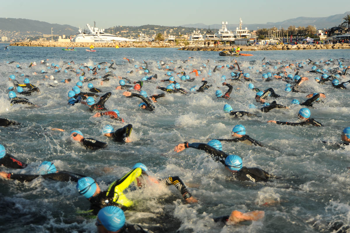 Cannes International Triathlon : 2km de natation !