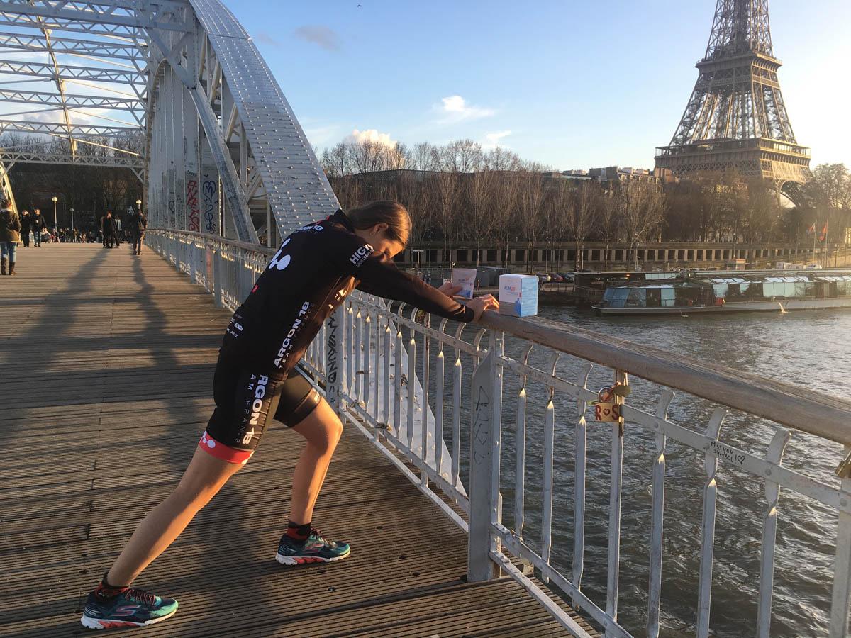 Laurie Canac, triathlète qui participe aux Ironman