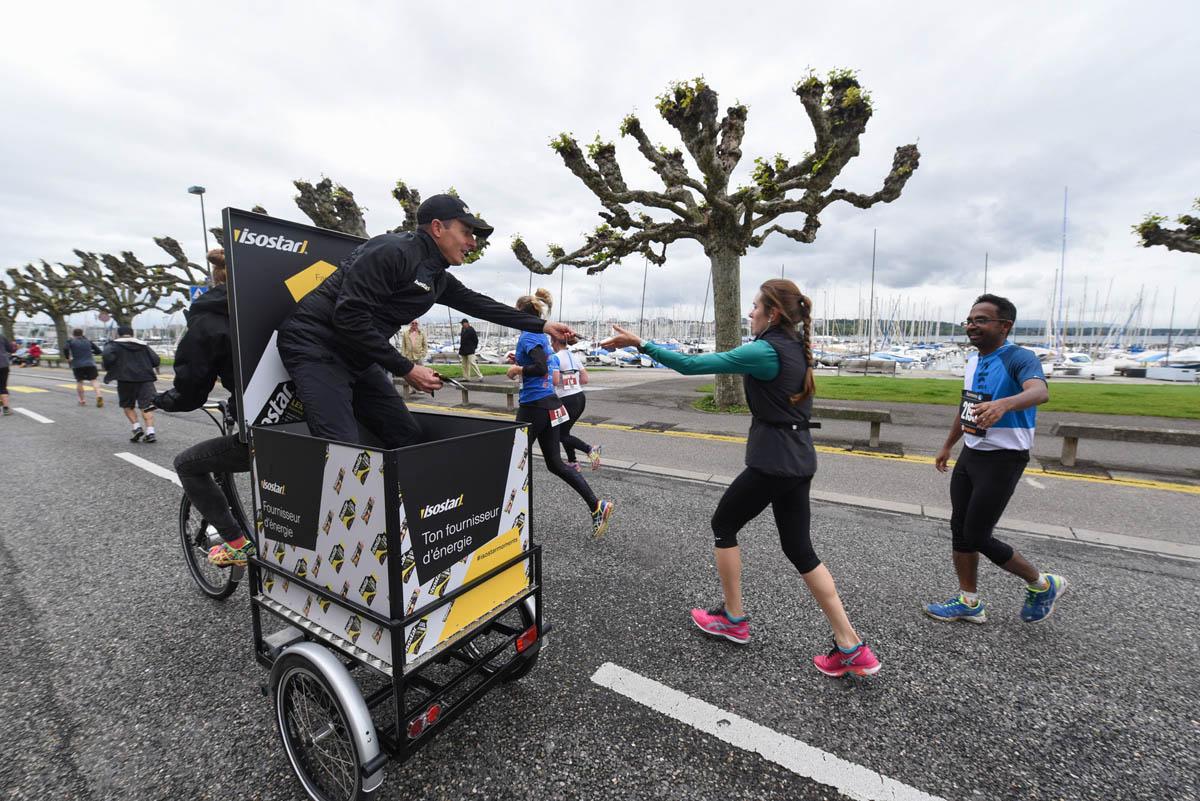 Marathon de Genève, le fameux jet d'eau