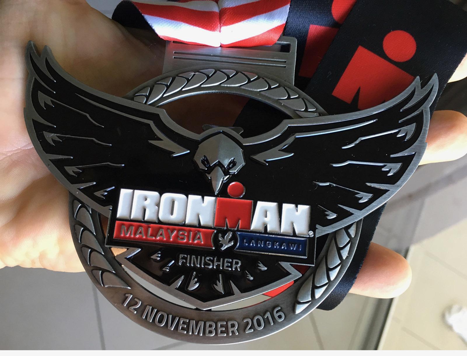 Finisher de l'Ironman de Langkawi