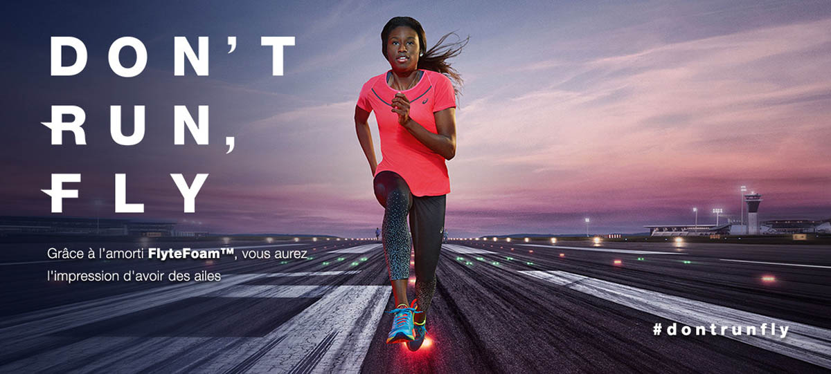Asics au marathon de Paris : don't run, fly !