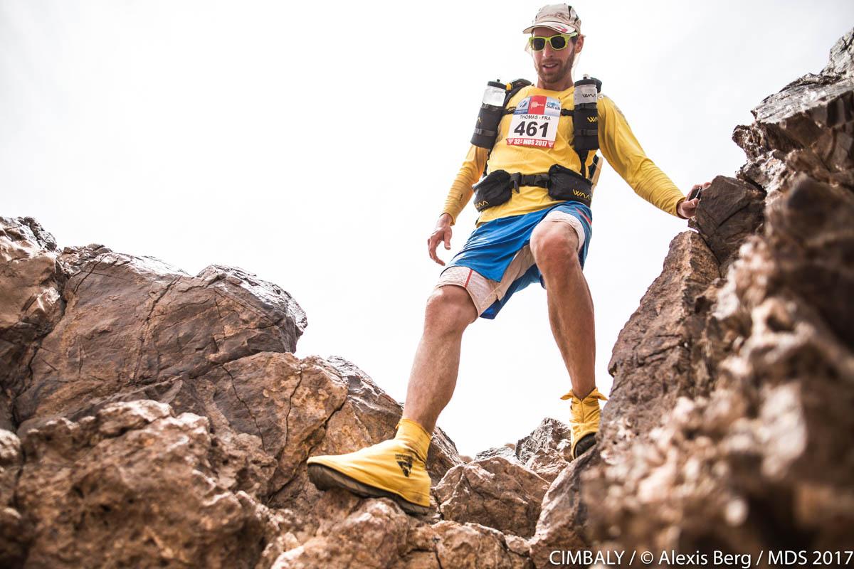 Marathon des sables : à travers les rochers