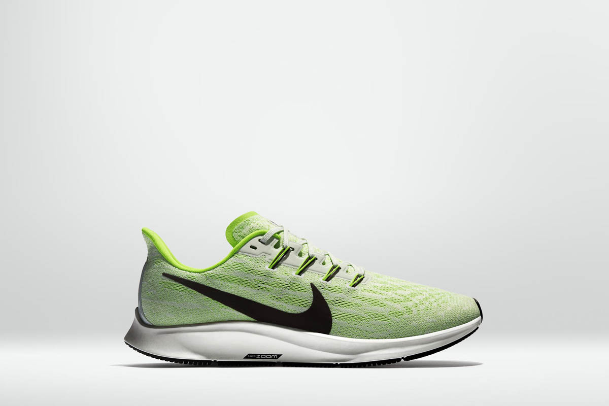 La nouvelle série Nike Zoom est de couleur néon vert fluo.
