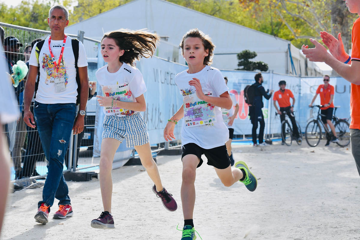 Enfants à l'honneur pour la 41ème des 20km de Paris